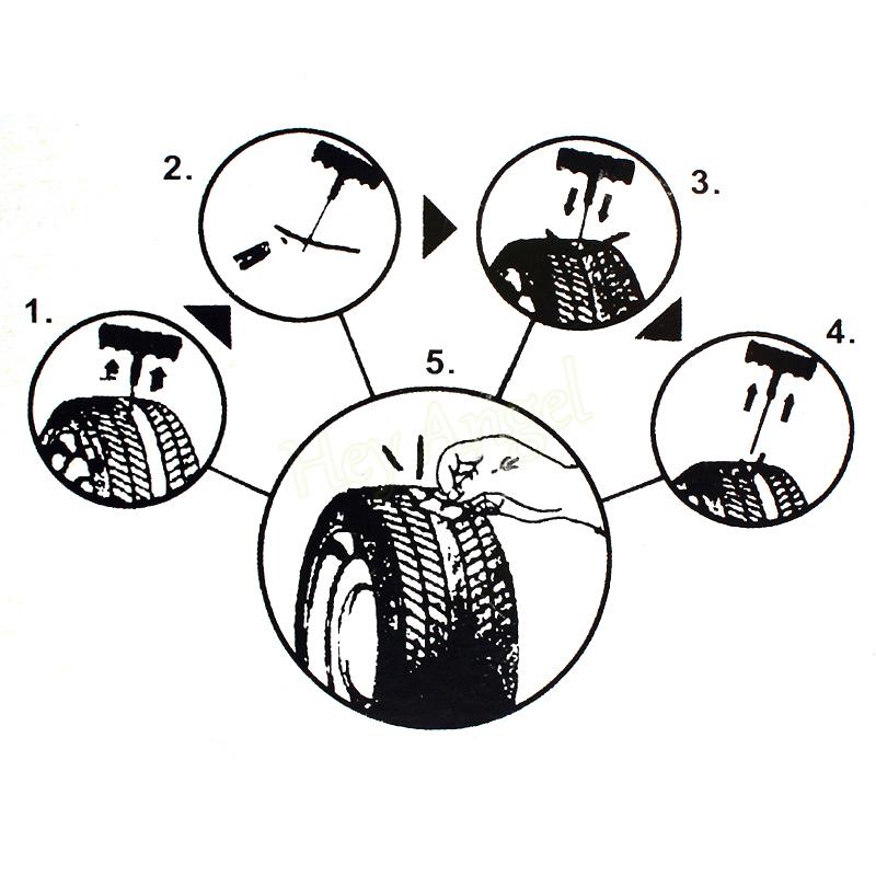 1 Set Car Tool Kit Car Bike Auto Tubeless Tire Tyre Plug Repair Tool Kit Safety 6 Type Tubeless Tire Repair Kit Car Accessories