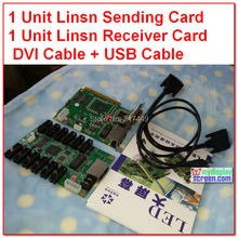 Linsn 801/802 control system 1 sending card sd801D /sd802D + 1 receive card rv801D/RV908D + hub75 card + dvi cables,usb cables(China (Mainland))