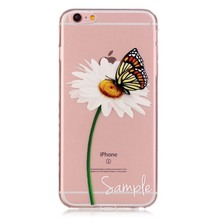 Ultra Slim Crystal Bird Girl Cake Feather Silicone Transparent TPU Soft Case Cover For iphone 6 6S 4.7 Mobile Phone Case JS0002