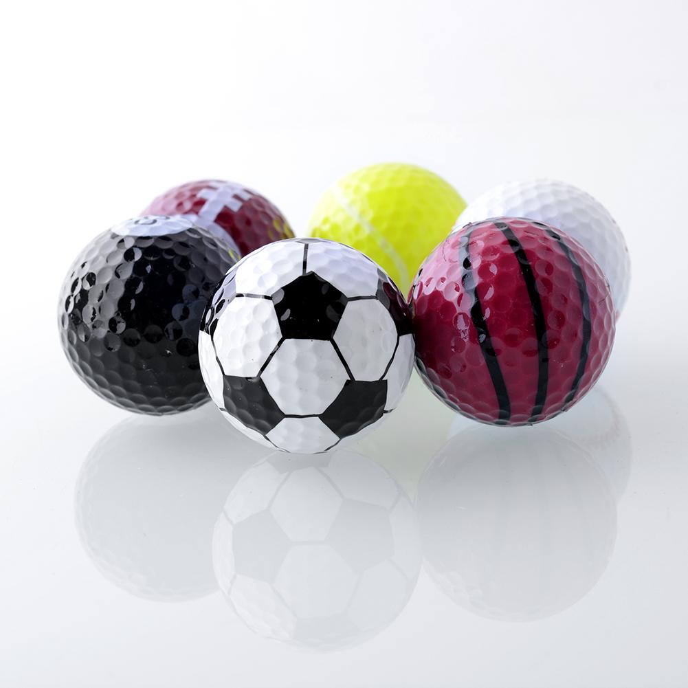 Set 6PCs Novelty Assorted Champion Sports Golf Balls Joke Fathers Day Best Present Rubber(China (Mainland))