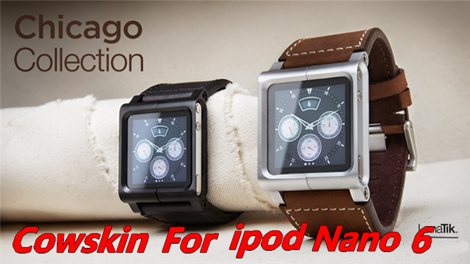 1pcs/ Chicago Collection Real Leather Multi-Touch Watch Band Wrist Strap For Apple IPod Nano 6 6th ,Free shipping,D0082(China (Mainland))