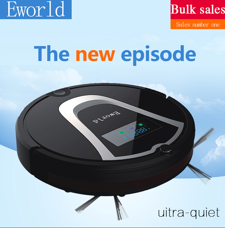 Eworld Robotic Vacuum Cleaner M884 with Cleaning Brush, Rechargeable Automatic Cleaning Robot for Floor(Online Shipping)(China (Mainland))