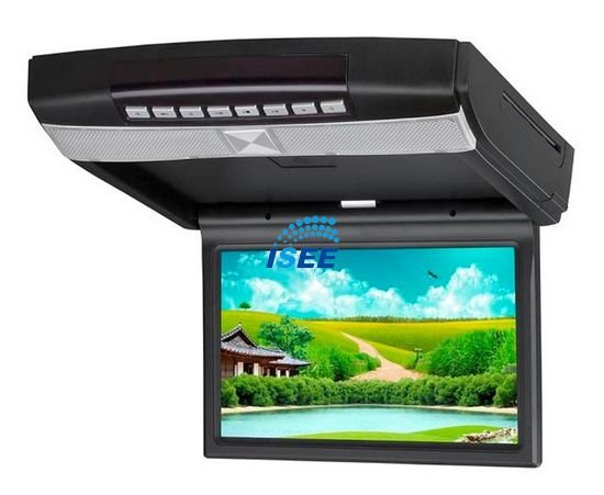 "10.2"" HD LED Flip Down Roof Mount Car DVD Player With IR/FM transmitter, TV/Game function(optional) FREE SHIPPING(China (Mainland))"