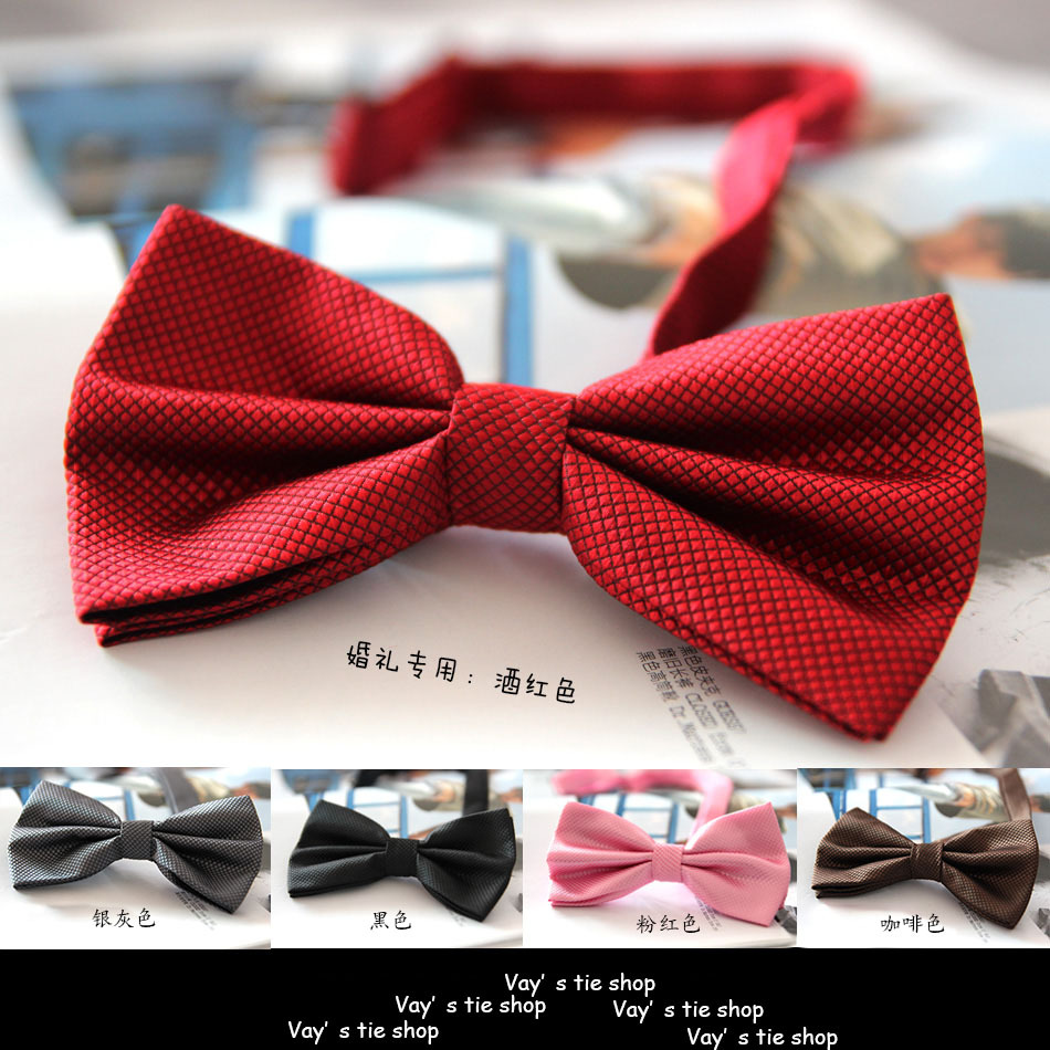 Free Shipping 20 Colors Solid Fashion Bowties Groom Men Colourful Plaid Cravat gravata Male Marriage Butterfly