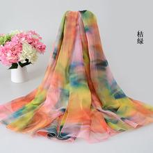 200*150cm Ladies Long Silk Chiffon Scarf 2016 New Luxury Brand Flower Infinity scarf Women Designer Scarf Summer Beach Cover Up(China (Mainland))