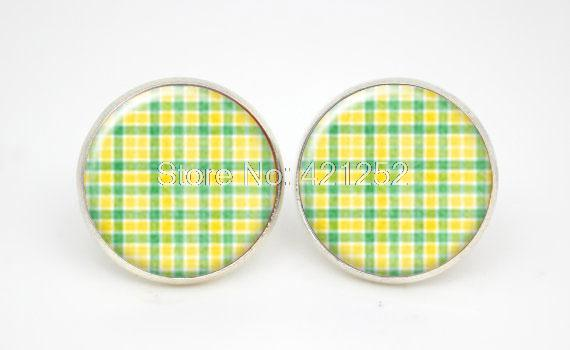 10pairs lot Lime Green STUD Earrings Kids Jewelry Simple Everyday Jewelry font b Tartan b font