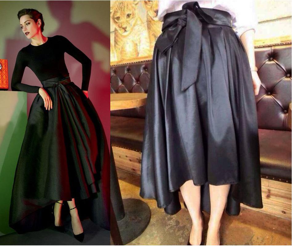 High Waisted Skirt With Bow