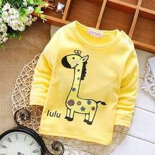 2016 Spring Autumn Casual Gilrs Boys Baby Children Infant,Babi Long Sleeved Printed  Tops T-shirt  PLUS054
