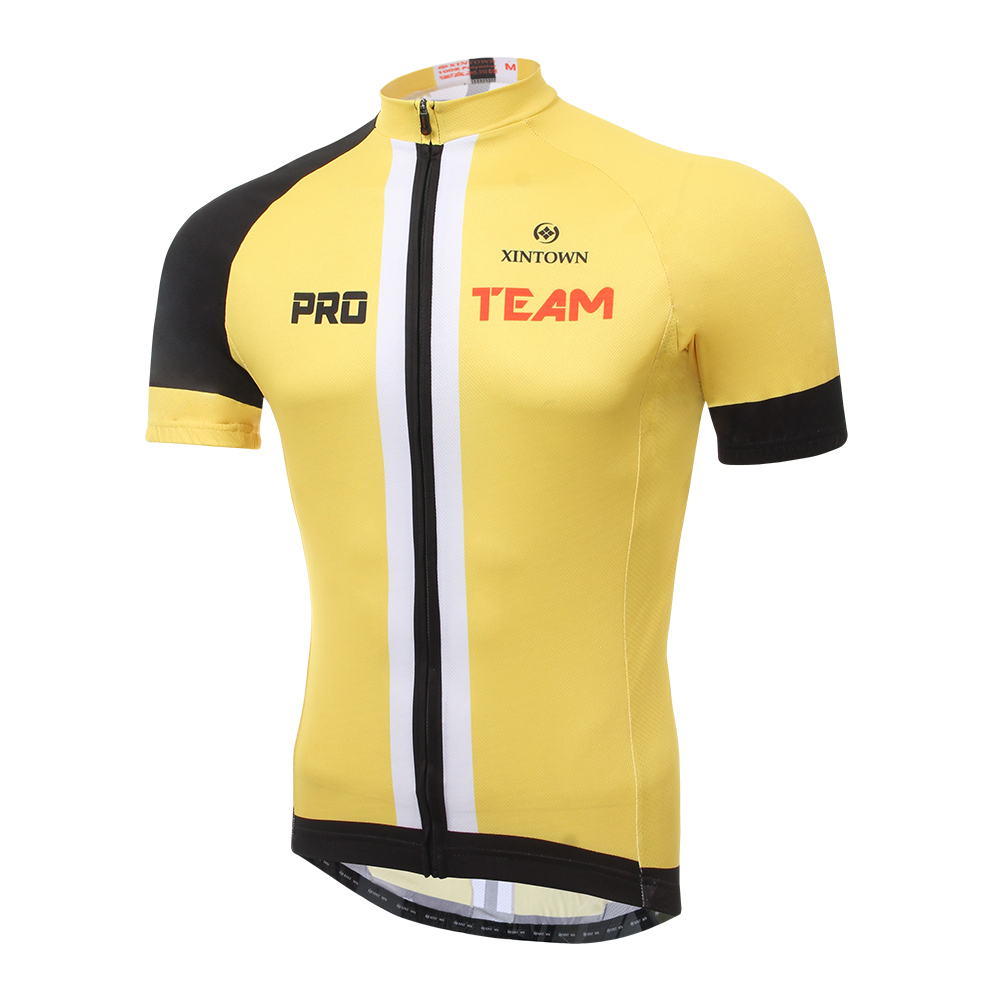 2015 Yellow Man Cycling Jersey Bike Short Sleeve ...