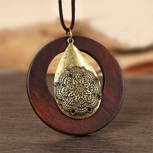 maxi necklace, Vintage necklaces & pendants, Women Jewelry,colar Wood Pendant collier,collares,sailor moon,choker necklace women(China (Mainland))
