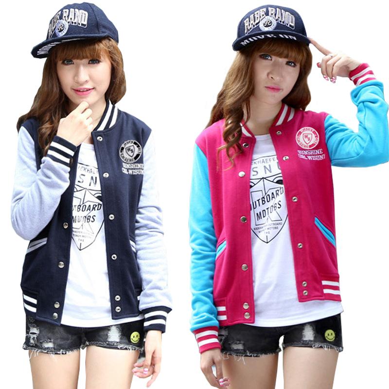2015 NEW Spring Coat Baseball Jacket Women Fashion Bomber Jacket College Varsity Basic Jackets Casaco Jaquetas(China (Mainland))