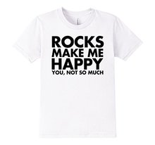 Buy 2017 Fashion funny casual Man Tops tees Rocks Make Happy Much Funny Geology T-Shirt Men T Shirt Round Collar Tees for $12.05 in AliExpress store