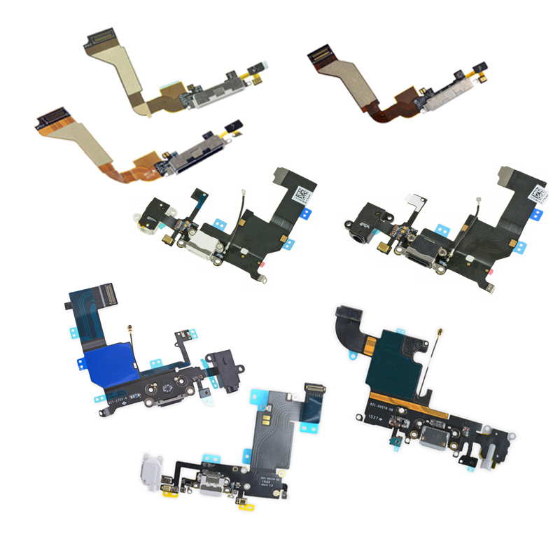 10Pcs/lot New Charger Charging Port Dock Jack Flex Cable Black White USB Connector Parts For iPhone 4 4S 5 5S 5C 6 6S Plus 6Plus(China (Mainland))
