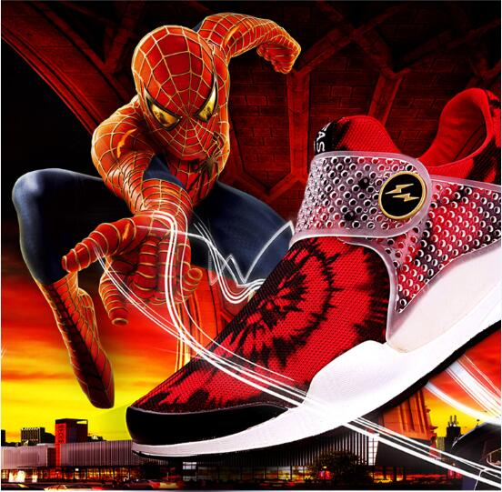 3 colors lovers shoes 2016 Hot style spiderman flying women surface casual shoes PU bottom sport casual shoes Free shipping(China (Mainland))