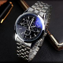 Fashion Full Steel White Black Blue Ray Dial 30m Waterproof Luminous Hands Business Dress Sport Wrist watch Watches for Men Male
