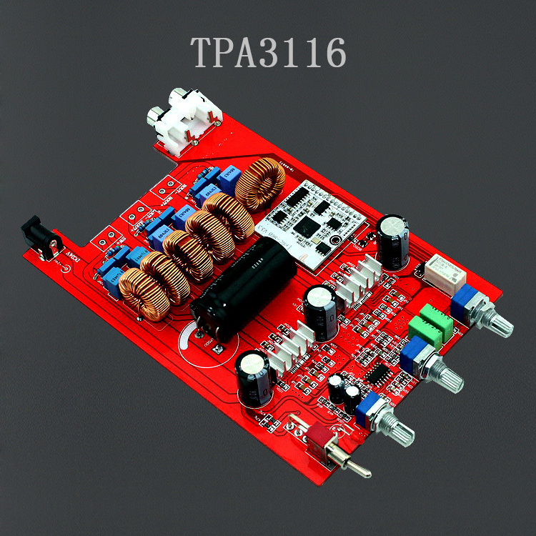 amplifier board TPA3116 2.1 Bluetooth amplifier board audio (100W + 50 * 2) Fever 1875 amplificador free shipping(China (Mainland))