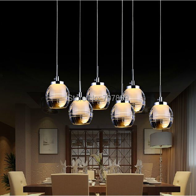 Led pendant light acrylic dining room lighting fixture for Hanging light fixtures for dining room