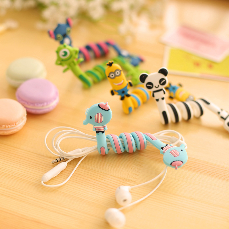 Kawaii Cartoon Animal Long Cable Winder Headphone Earphone Organizer Wire Holder(China (Mainland))