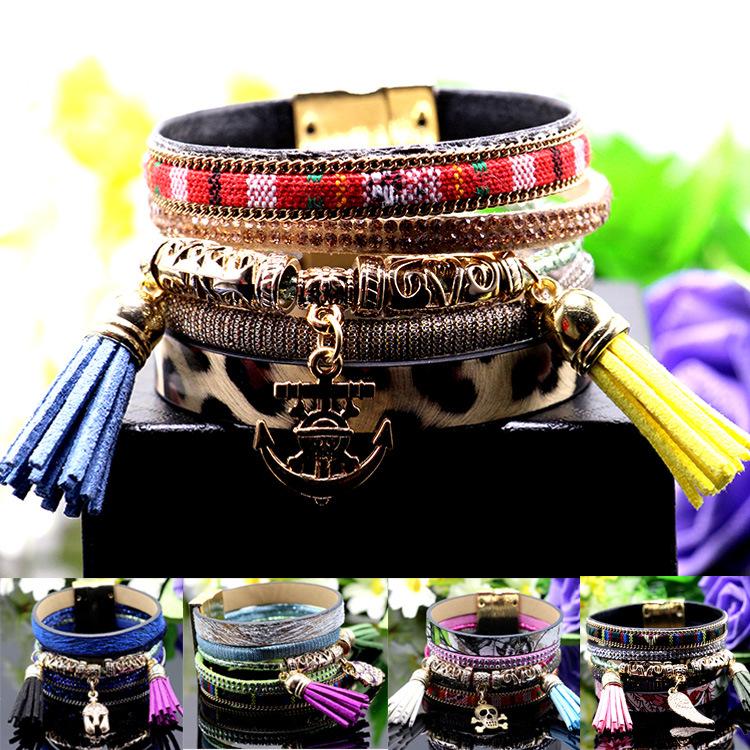 Aliexpress New Europe woven Bracelet owl wings fringed Bracelet female jewelry wholesale trade(China (Mainland))