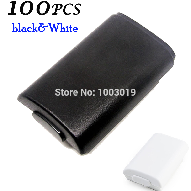 Plastic Battery Pack Cover Shell Case Kit for Xbox 360 Slim Wireless Controller battery rechargeable Pack Black<br><br>Aliexpress