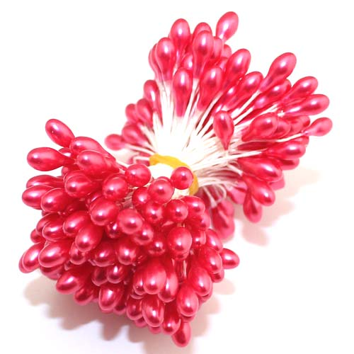 High Quality120PCS/lot New 5mm-6mm Paper wire Double Head Made of Wax Pearl Flower Stamen(China (Mainland))