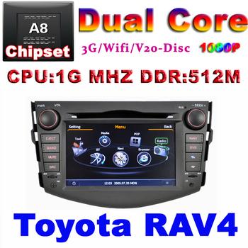 Car DVD for Toyota Rav4 RAV 4 2008 - 2011 1G CPU 1080P 3G Host HD screen S100 support DVR Auto audio video player Free shipping