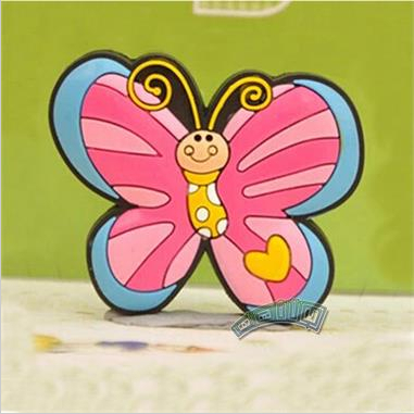 Гаджет  The Most Cheap ButterFly Soft Rubber Cartoon Drawer Wardrobe Cabinet Cupboard Kids Room Door Handles Knob None Мебель