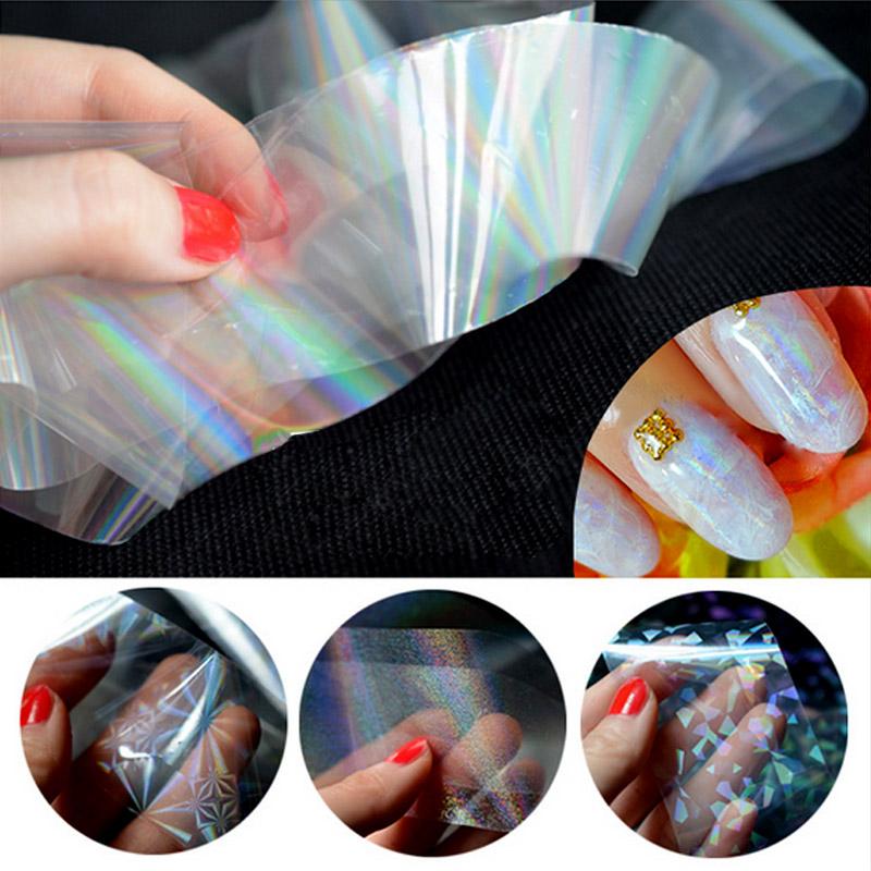6 Colors Broken Glass Nail Foil Polish Nailart Wraps 3D Nail Design Transfer Foil Minx Stickers for Nails Decorations ZJ1107(China (Mainland))