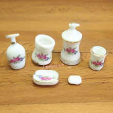 Dollhouse Miniature 1:12 Toy Porcelaine Bathroom Accessory GM25(China (Mainland))