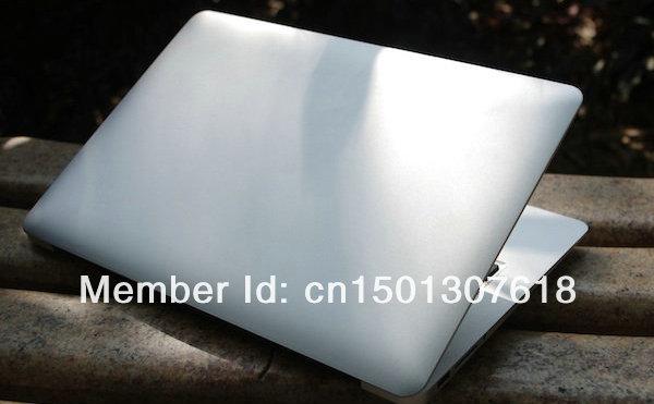 Free shipping 13.3 inch Aluminium ultrabook slim Laptop notebook Intel celeron 1037U 4GB SSD 128GB windows 7/8 notbook computer(China (Mainland))