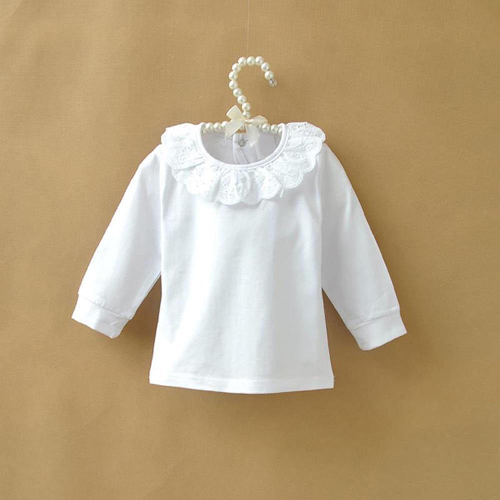 Buy autumn children t shirt baby girls for White cotton long sleeve t shirt