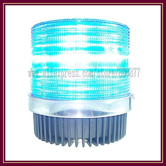 LED Beacon light, LED warning light, 57 LEDs, DC12V, Power 10W, Magnetic Install, PC Lens, waterproof, 12 feet cigarette plug