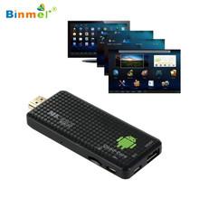 Precio de fábrica Quad Core Mini PC Android 4.4 Bluetooth HDMI WIFI Smart TV Box dongle Full HD 1080 P TV Box Dongle 3D Media Player