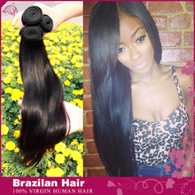 Rosa Hair Products Virgin Brazilian Hair Straight 6A Grade Weave 3pcs/lot Bundles In Stock Brazilian Virgin Human Hair Extension(China (Mainland))