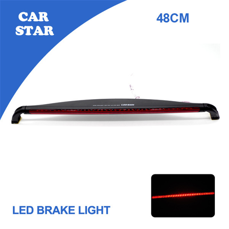 Free Shipping 2015 New LED Third Brake Light 12V LED Warning Light Bar Car Auto Fog Tail Rear Lamp Red Car Styling(China (Mainland))