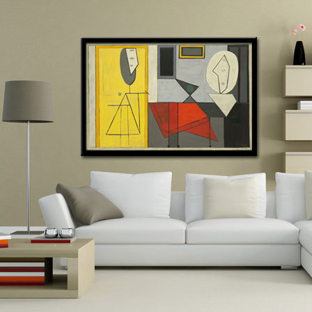 Modern Abstract Oil Painting Wall Decor Canvas Picasso Oil Painting Abstract Wall Art Picture Paint Prints On Canvas(No Frame)(China (Mainland))