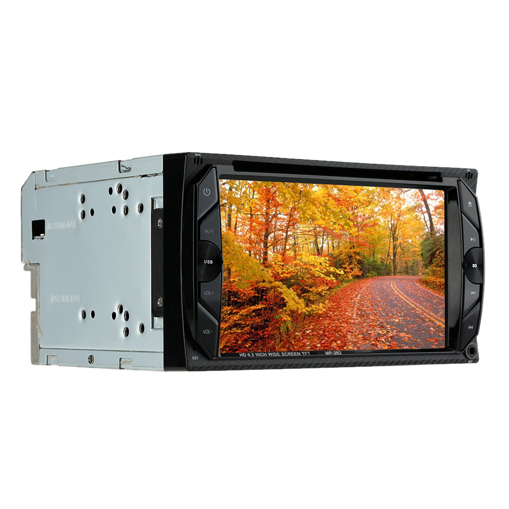 "6.2"" Double Din Best HD Car DVD Player Support Rear View Camera/Bluetooth/MP5 For Frod/VW/BMW/Opel/Camry(China (Mainland))"