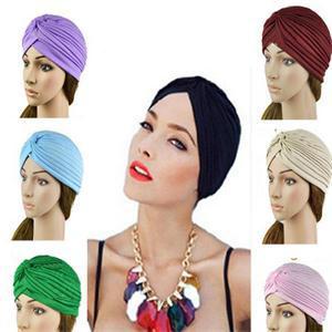 Indian Style Fashion winter hat unisex men Women Lady Turban Hats Cap Autumn Winter Warm Velvet soft Headwrap black