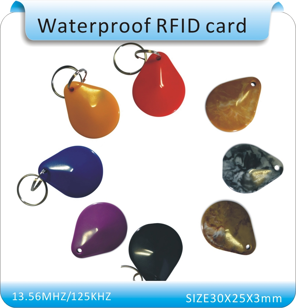 Free Shipping more style 13.56MHz M1 F08 Induction Smart RFIC IC Card, Agate shape, Keychain,100pcs/lot(China (Mainland))