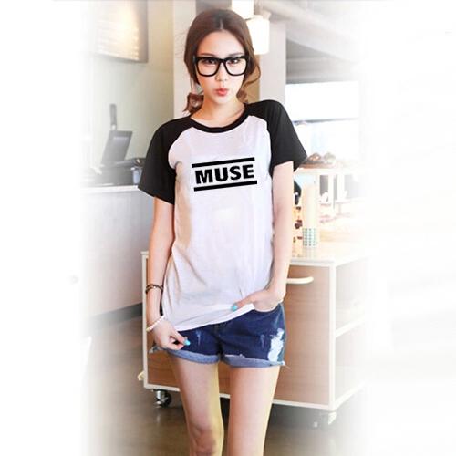 Muse Printed Black White Raglan Sleeve Women T-shirt Swag Clothes Cool Tshirts Japanese Harajuku Mori Top Tee - Tshirt store