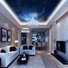 Customized night space nebulae image print ceiling wallpaper mural decor for living room bedroom home n office ceiling decals(China (Mainland))