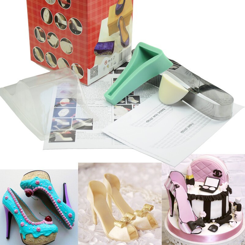 Cake Decorations Silver Shoes : Silicone Shoe Cake Decorating Mold