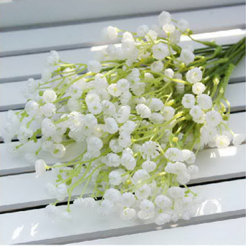 24Pcs Great Quality White Decorative Baby Breath Artificial Flowers for Wedding Party Home Decoration Wholesales(China (Mainland))