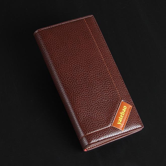 Men Wallets 2014 Hot New Man Long Purse Versatile Multi-card Genuine Leather Business Casual Wholesale Clutch Card <br><br>Aliexpress
