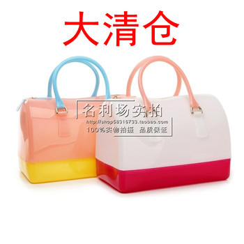 Jelly bag 2013 candy color transparent crystal bag new arrival women's handbag tote bag for women