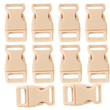 """AUAU 10pcs 5/8"""" Side Release Plastic Buckles for 0.6"""" Webbing Straps Beige(China (Mainland))"""