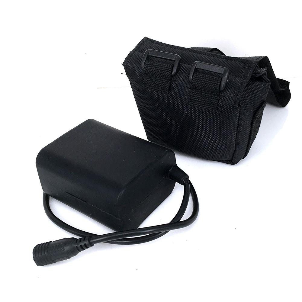 9000mAh Li-ON 6*18650 Waterproof Battery Pack For High Lumen T6 L2 LED Bike Lamp Light(China (Mainland))