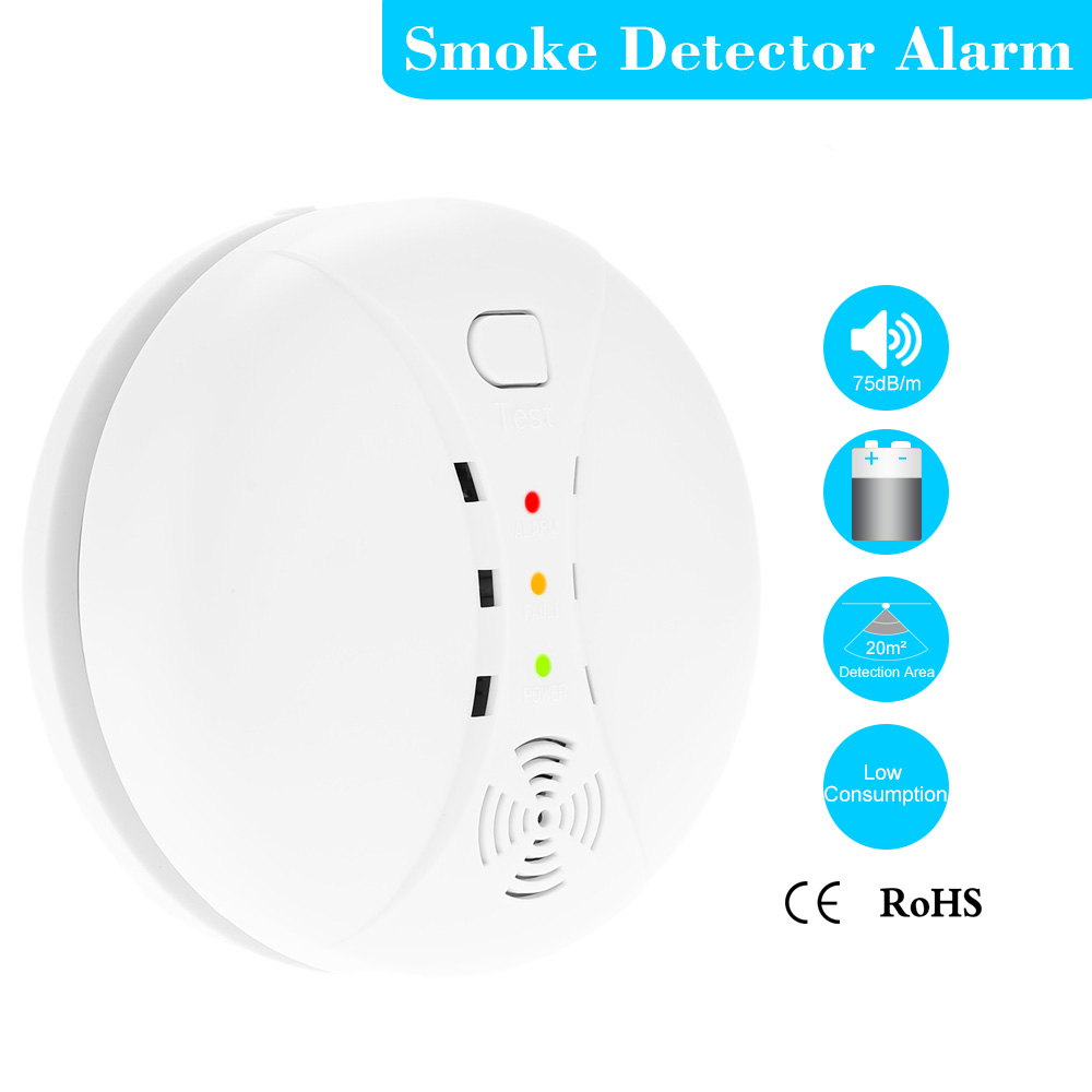 High sensitivity Wireless Photoelectric Smoke Detector High Sensitive Stable Fire Alarm Sensor Monitor for Home Security(China (Mainland))