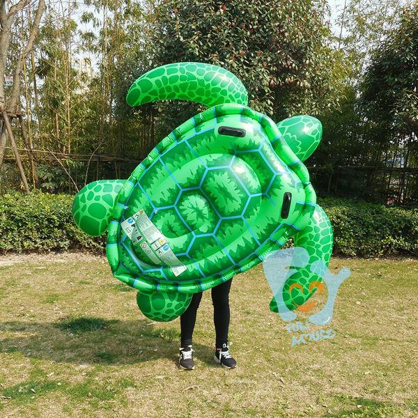 Летом надувной ездить на бассейн поплавки игрушки 65in 165 см надувные большая зеленая черепаха плавать воздуха плот матрас кровати