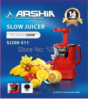Slow Juicer In Germany : ARSHIA Juice Extractor Juicer 200W 220v Slow 65Rpm Germany Quality Kitchen Tool-in Juicers from ...